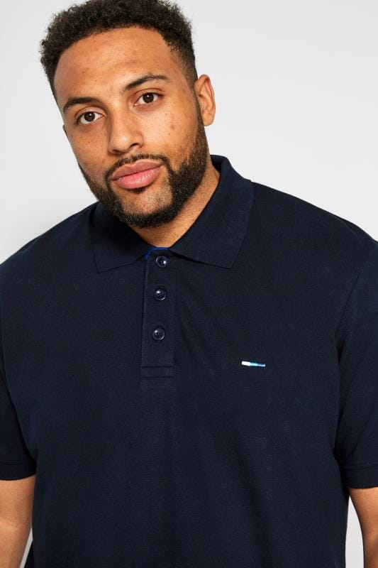 BadRhino Dark Navy Premium Stretch Polo Shirt