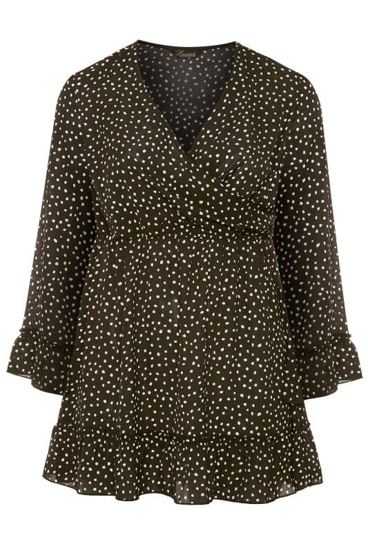 LIMITED COLLECTION Black Polka Dot Wrap Dress
