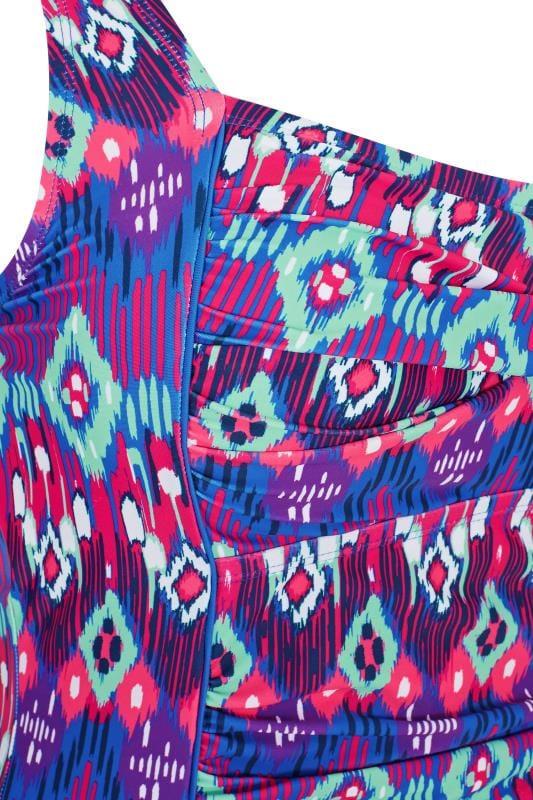 Purple Aztec Twist Front Swimsuit