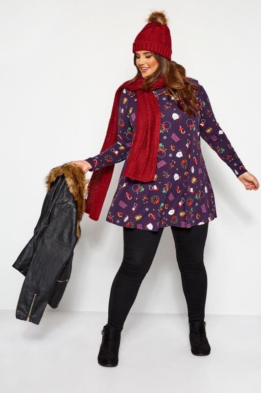 Purple Christmas Tunic