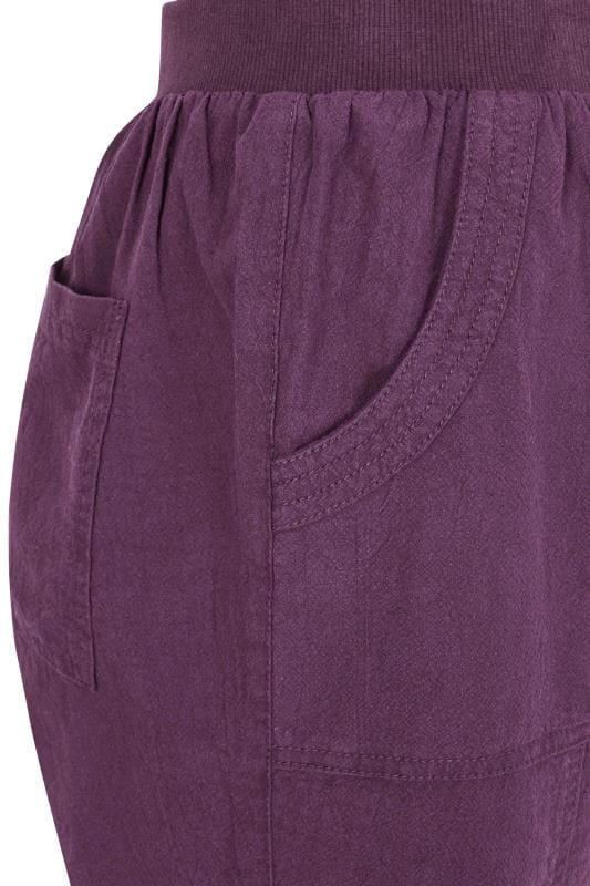 Purple Cool Cotton Pull On Shorts