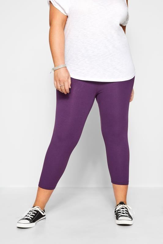 Purple Cropped Leggings