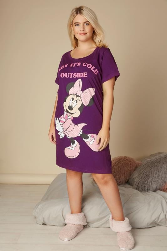 Purple Disney Minnie Mouse Nightdress