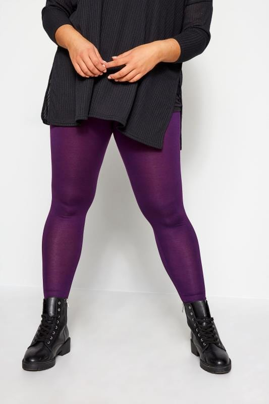 Plus Size Fashion Leggings Purple Fashion Leggings