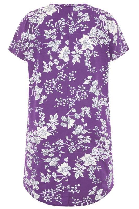 Purple Iris Floral Nightdress