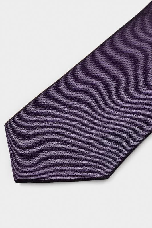 SCOTT & TAYLOR Purple Twill Tie