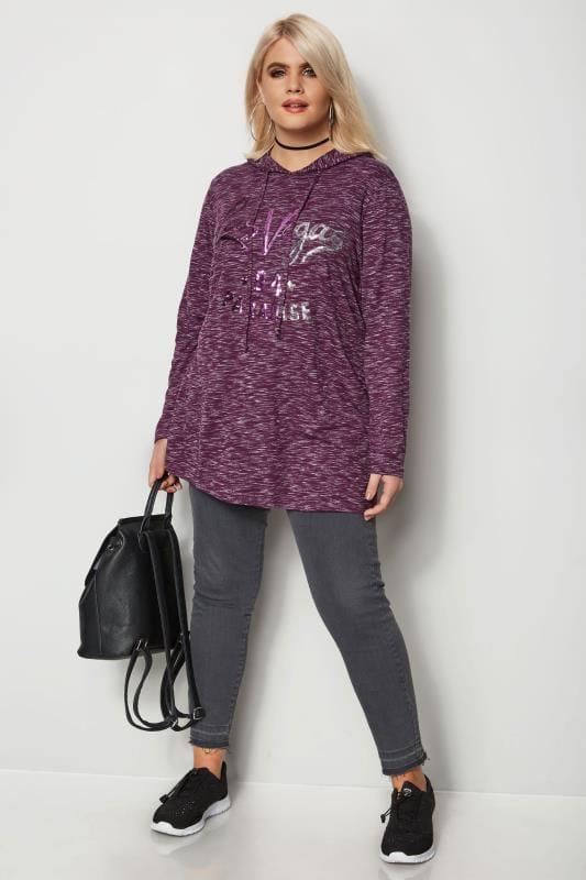 Purple Sequin Sweatshirt