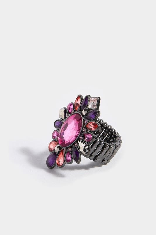Purple Stone Shield Ring