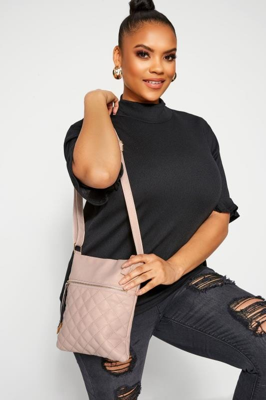 Cross Body Bags Nude Quilted Cross Body Bag