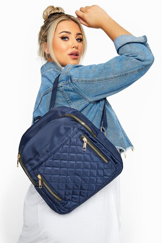 Beauty dla puszystych Navy Quilted Backpack