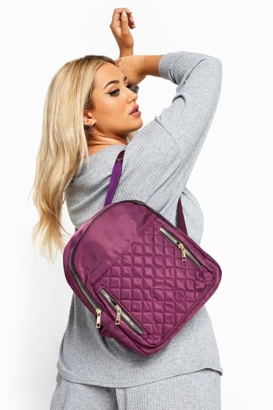 Bracelets Purple Quilted Backpack