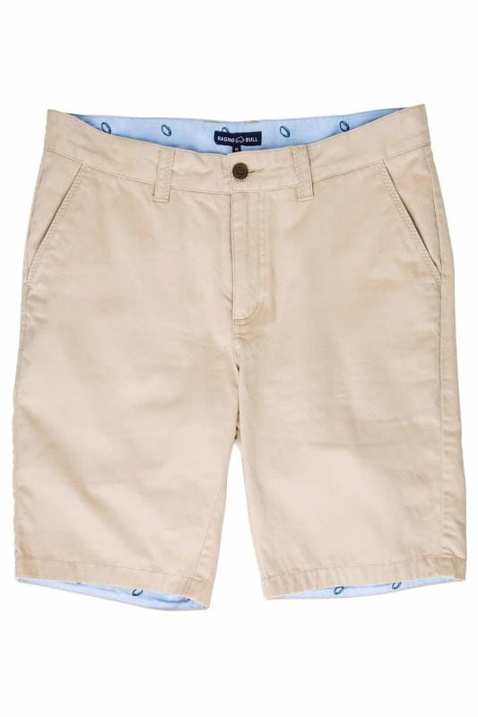 Plus Size Chino Shorts RAGING BULL Tan Chino Shorts