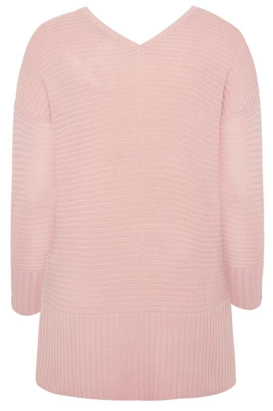 Light Pink Ribbed Longline Jumper