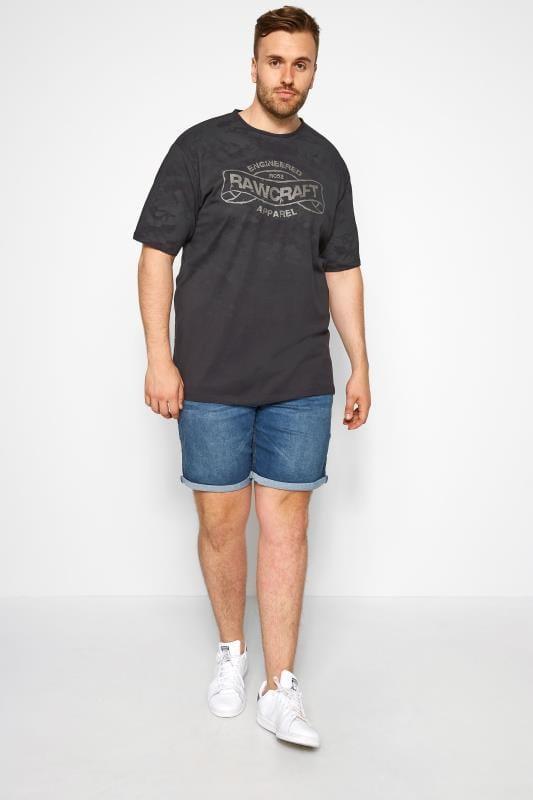 RAWCRAFT Black Slogan T-Shirt
