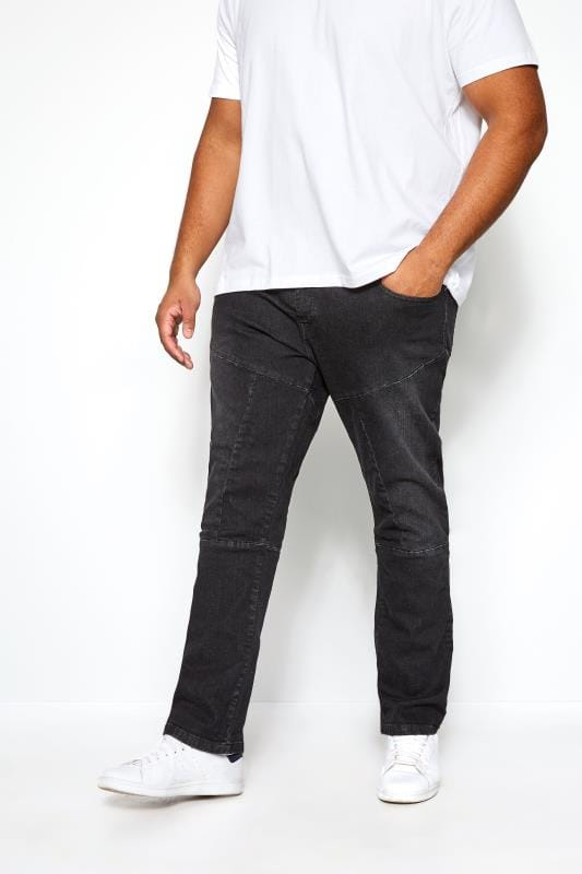 Straight RAWCRAFT Blackwash Straight Leg Jeans 201582