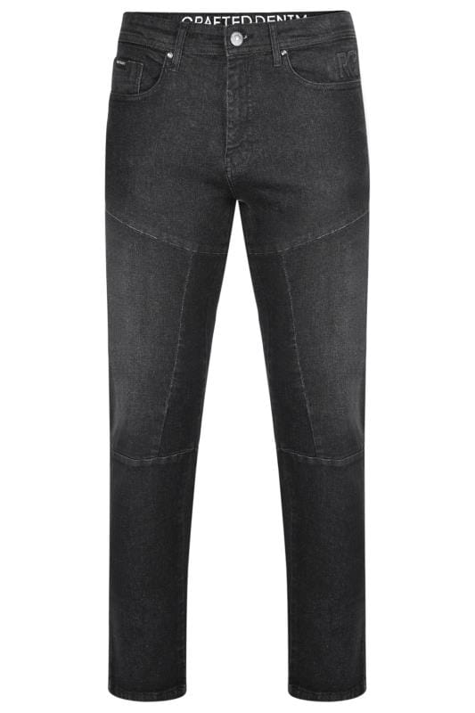 Plus Size Straight RAWCRAFT Blackwash Straight Leg Jeans
