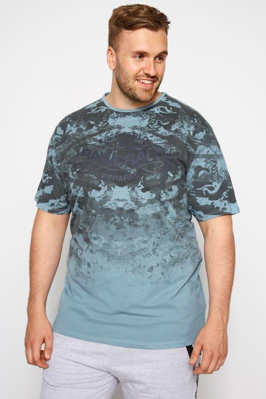 T-Shirts RAWCRAFT Blue Graphic T-Shirt 201128