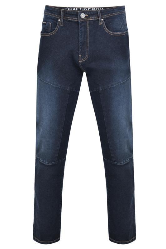 RAWCRAFT Darkwash Straight Leg Jeans