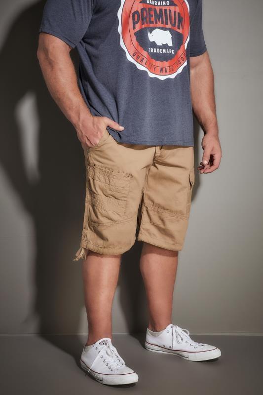 Cargo Shorts RAWCRAFT Tan Cargo Shorts 170530