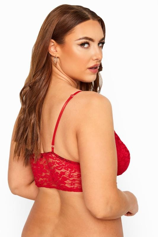 LIMITED COLLECTION Red Floral Lace Bralette