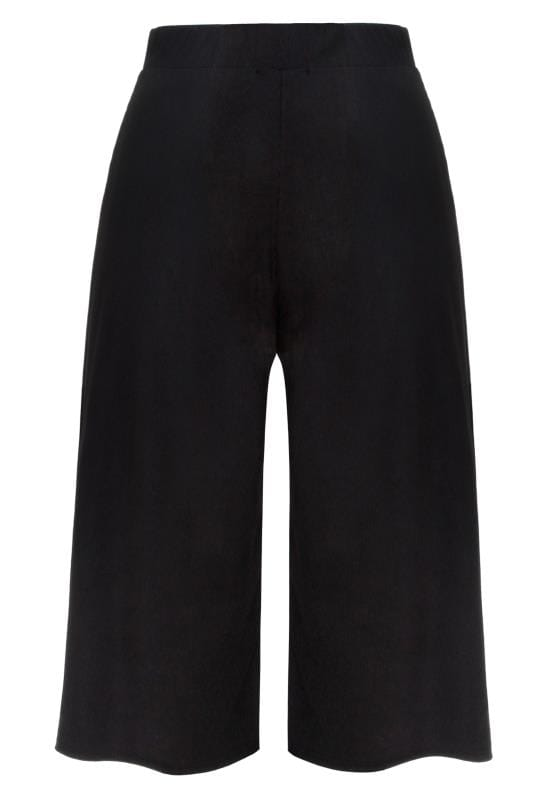 LIMITED COLLECTION Black Ribbed Culottes