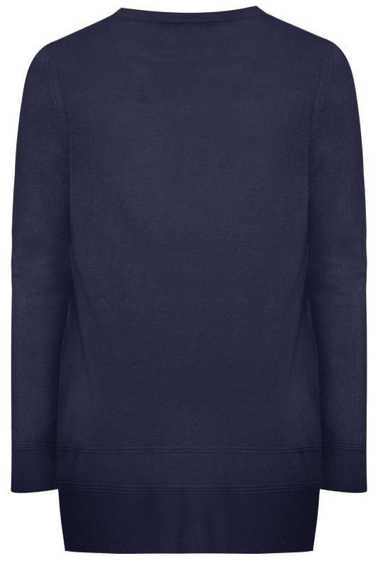 Navy Cashmilon Knitted Jumper