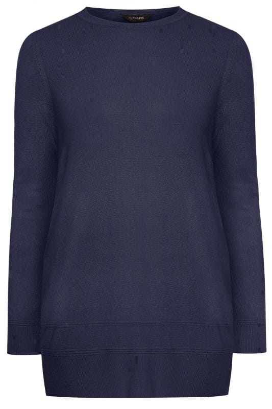 Navy Cashmilon Knitted Jumper