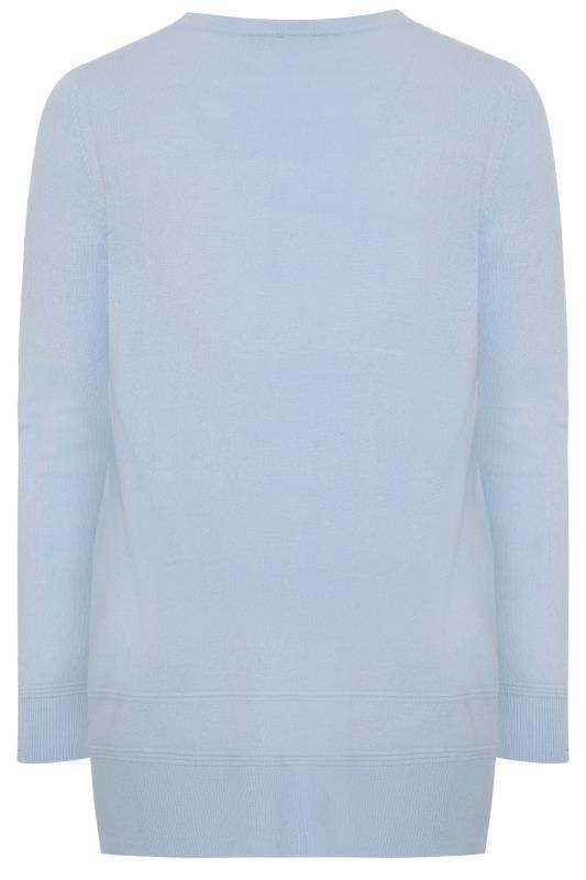 Pale Blue Cashmilon Knitted Jumper