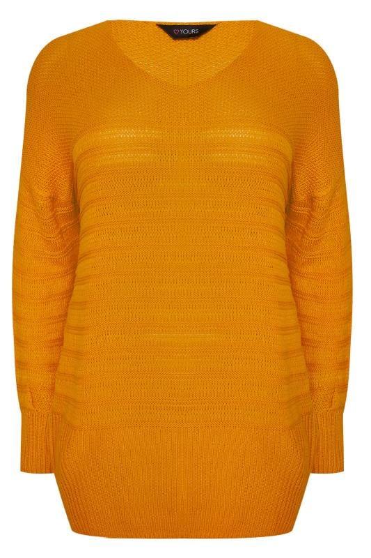 Rode trui met textuur, grote maten 44 64 | Yours Clothing