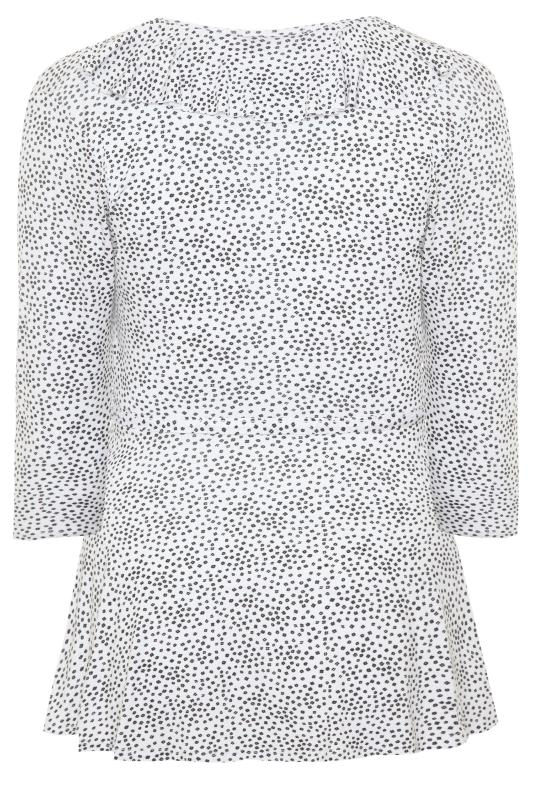 LIMITED COLLECTION White Ditsy Daisy Print Wrap Top
