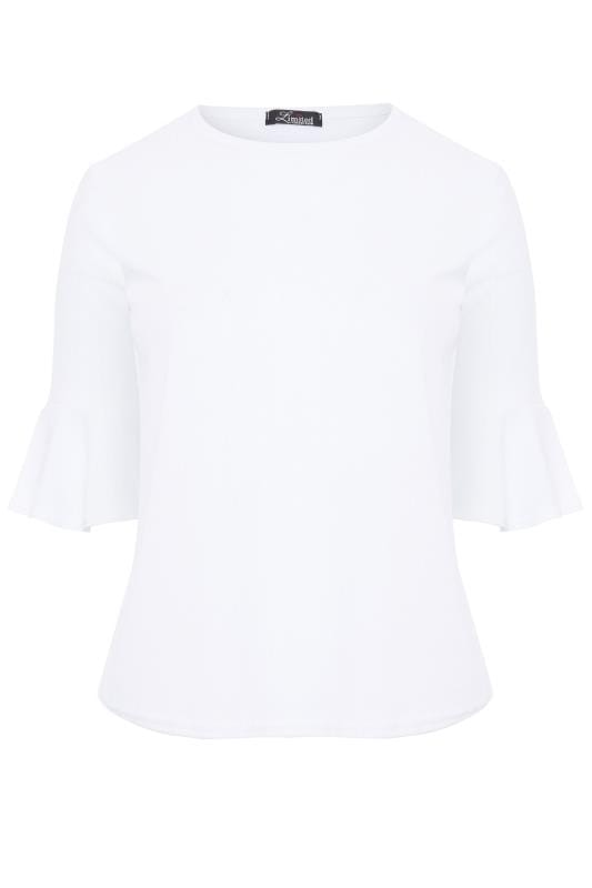 LIMITED COLLECTION White Ribbed Scoop Neck Top