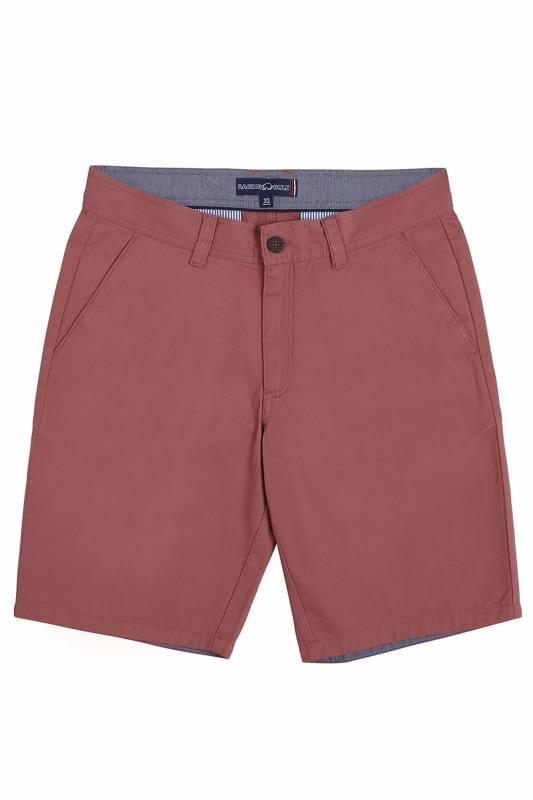 Plus Size Chino Shorts RAGING BULL Pink Chino Shorts