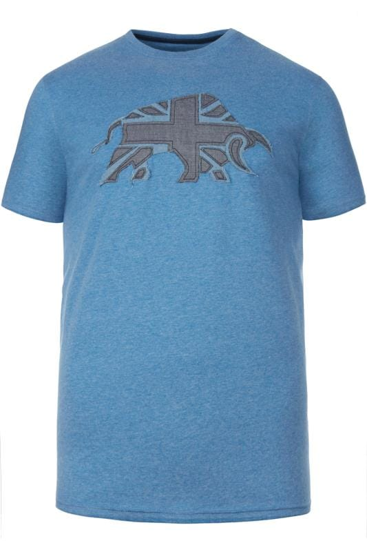 Plus Size T-Shirts RAGING BULL Blue Union Jack T-Shirt