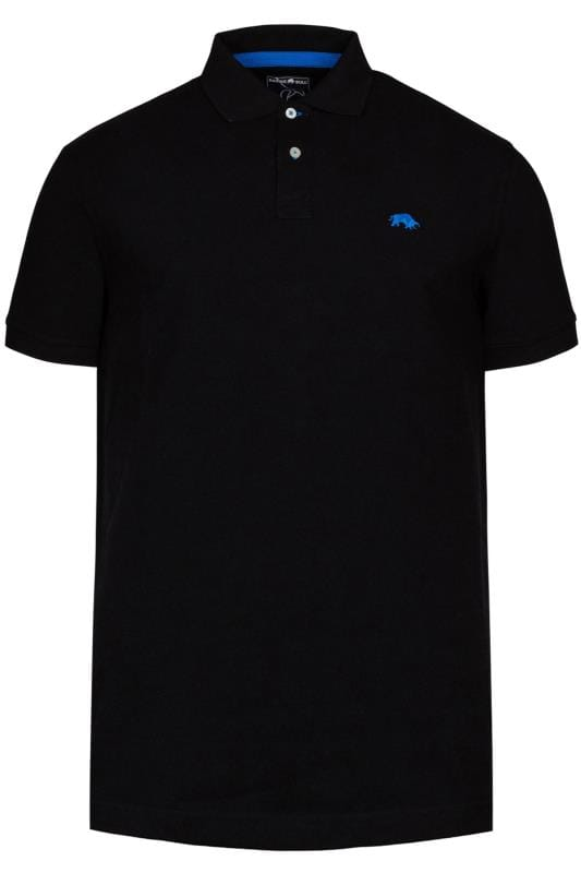 Plus Size Polo Shirts RAGING BULL Black Signature Polo Shirt
