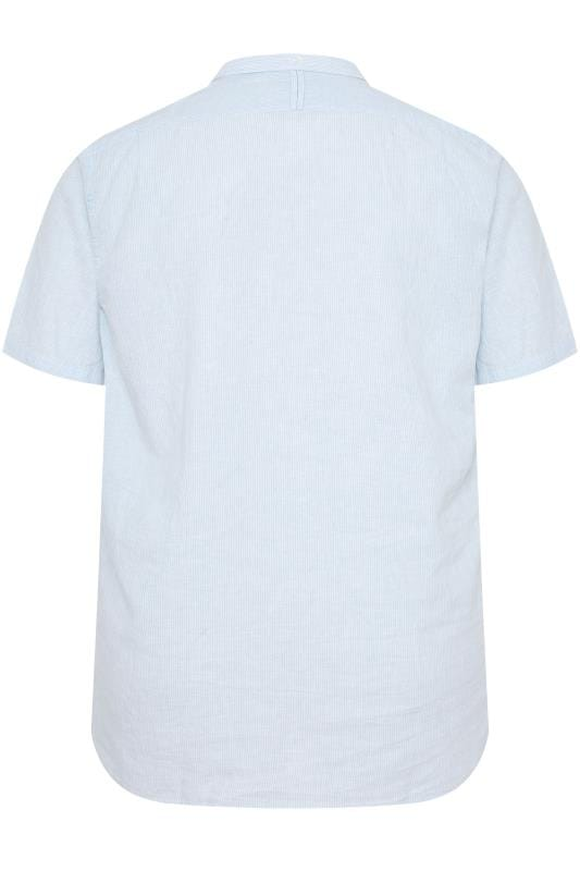 RAGING BULL Sky Blue Striped Shirt