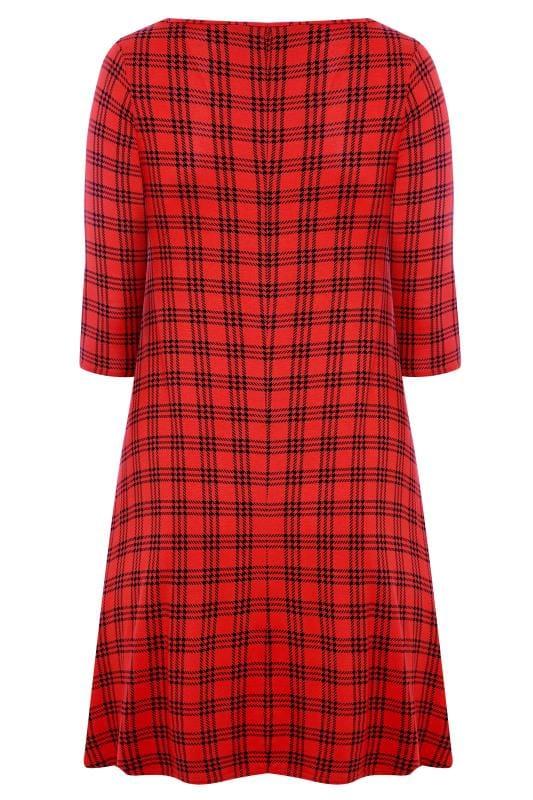 Red Check Swing Dress
