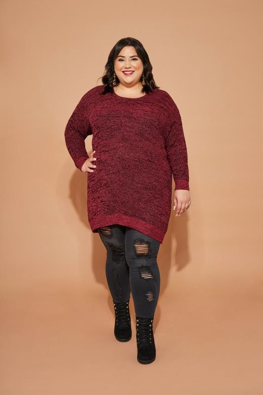 Red Chunky Knitted Jumper