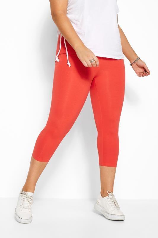 Red Cropped Leggings