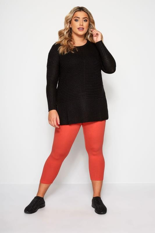 Red Cropped Leggings