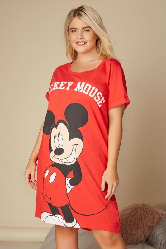 los angeles super specials 2018 sneakers Chemise de Nuit Rouge Disney Mickey Mouse, grande taille 44 à 64