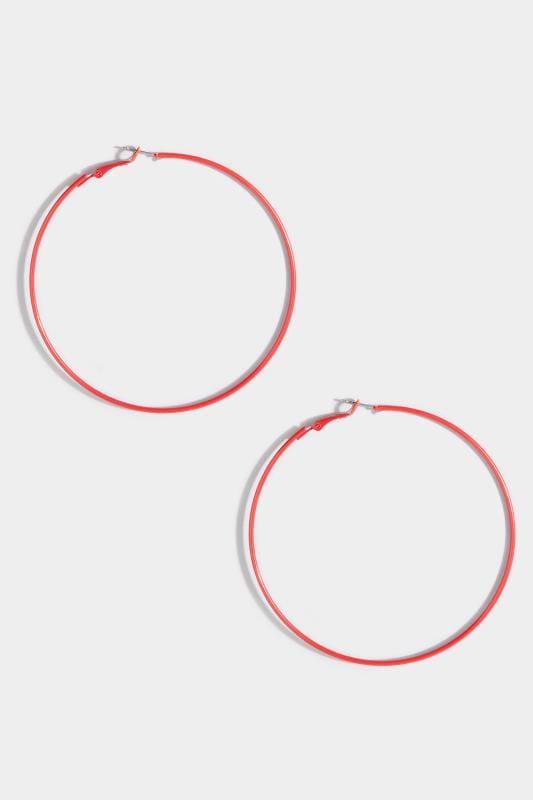 Red Hoop Earrings