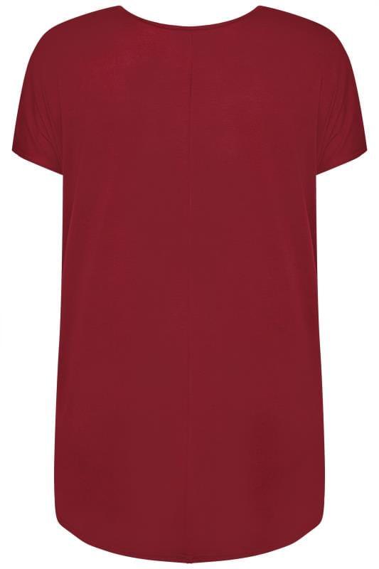 Red Leopard Star Print T-Shirt