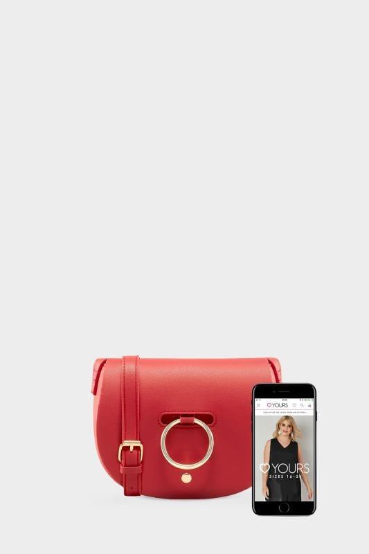 Red Ring Detail Cross Body Bag