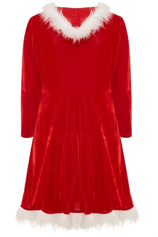 Red Novelty Christmas Santa Dress