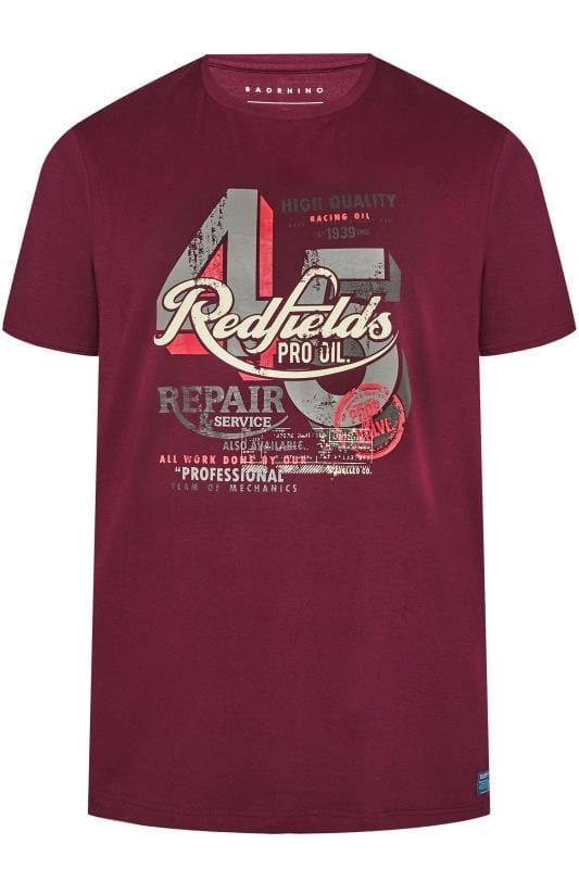 BadRhino Burgundy 'Redfields' Graphic T-Shirt