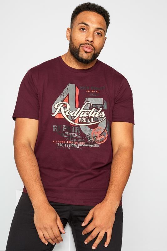 T-Shirts BadRhino Burgundy 'Redfields' Graphic T-Shirt 201247