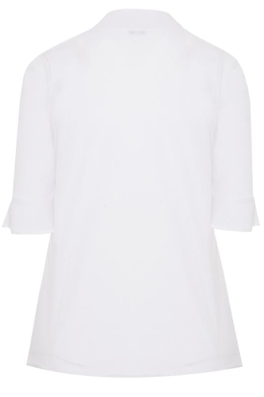 LIMITED COLLECTION White Ribbed Flare Sleeve Top