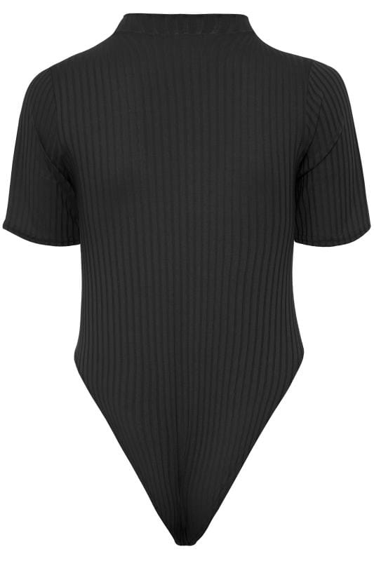 LIMITED COLLECTION Black Ribbed Bodysuit