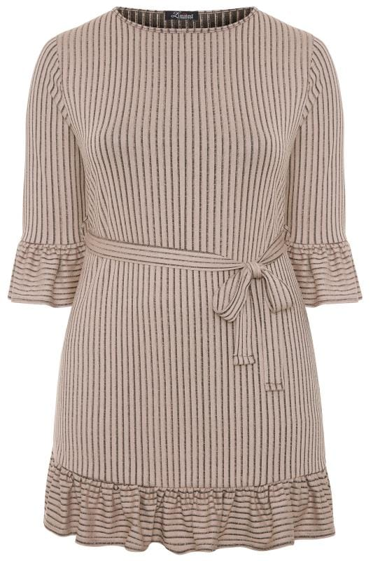 LIMITED COLLECTION Stone Ribbed Frill Dress