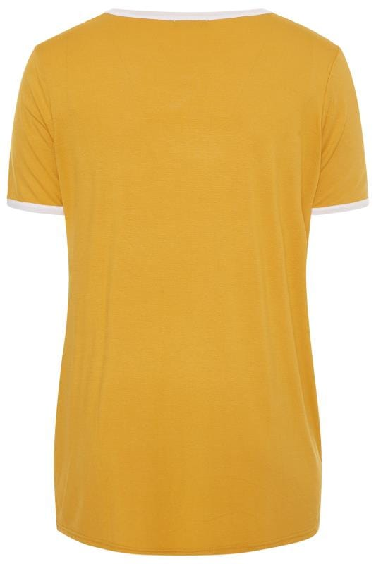 LIMITED COLLECTION Mustard Yellow Ringer T-Shirt